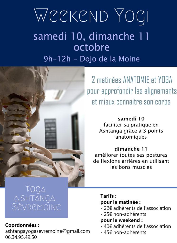 Venez à notre weekend yogi à Montfaucon-montigné pour 2 matinées complètes ! Au programme : du yoga dynamique tous niveaux et de l'anatomie pour pratiquer en toute sécurité.